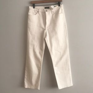 NWT High Rise White Denim Straight Size 29R